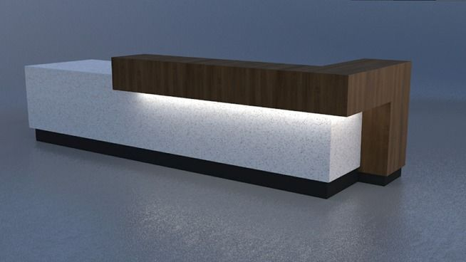 Modern Contemporary Reception Desk 3d Warehouse Reception Desk