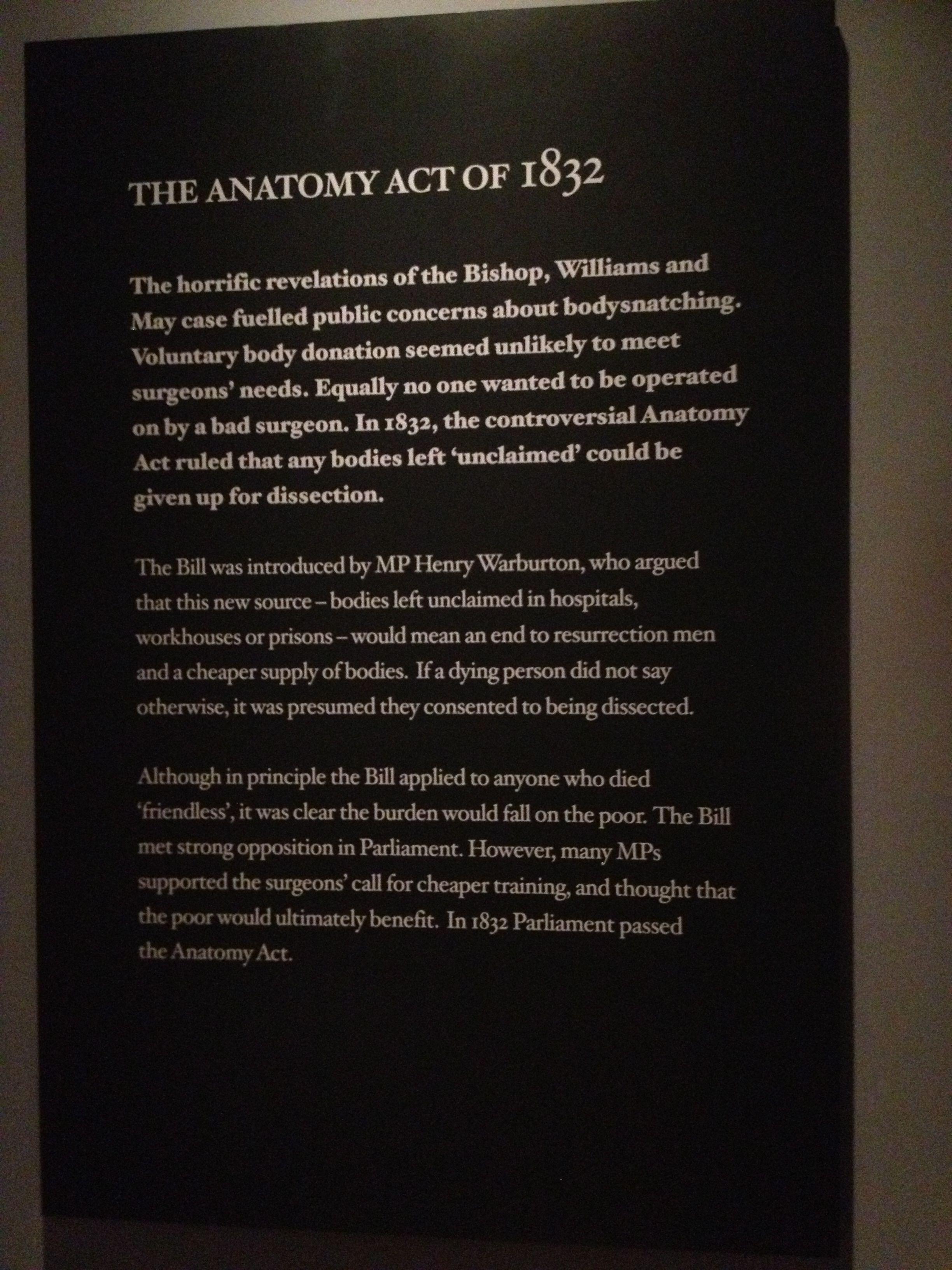 The Anatomy Act- 1832 Ressurection | Frankenstein DESC | Pinterest