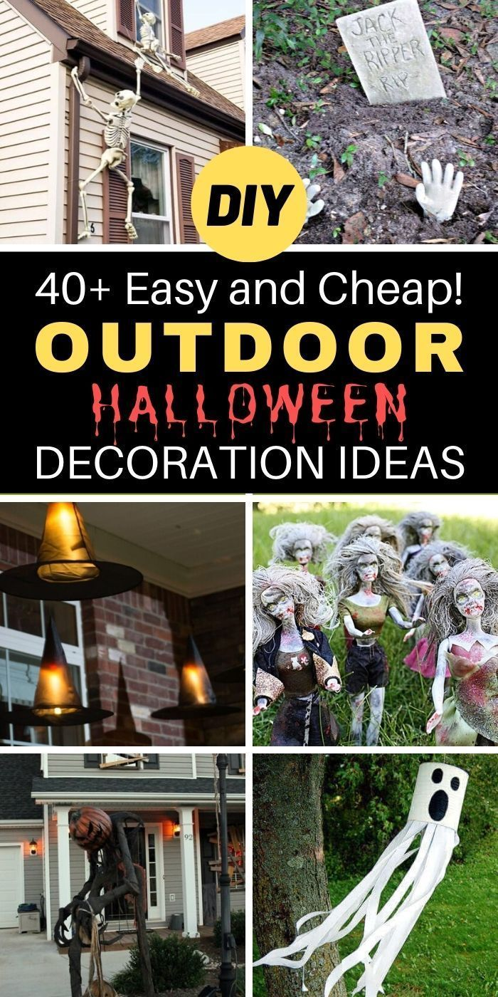 Neighborhoods Decorated For Halloween Near Me 2020 40+ Easy And Cheap! Outdoor Halloween Decoration Ideas in 2020