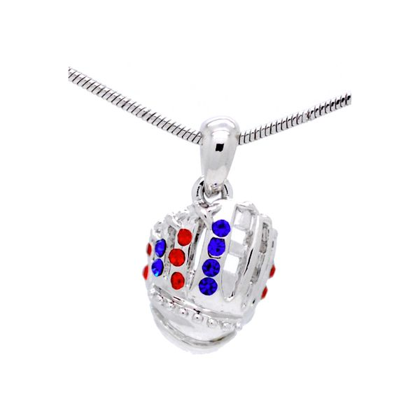6cca2a3695379a Cubbies Colored All-Star Crystal Baseball Glove Necklace ...