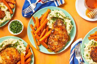 Hot Honey Pan Fried Chicken Recipe Hellofresh Recipe Chicken Meal Prep Chicken Recipes