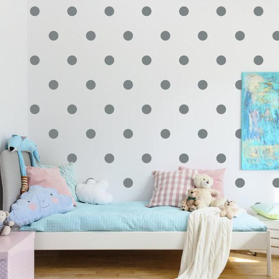 Polka Dot Decal Set Set Of 105 Dot Wall Decals Children