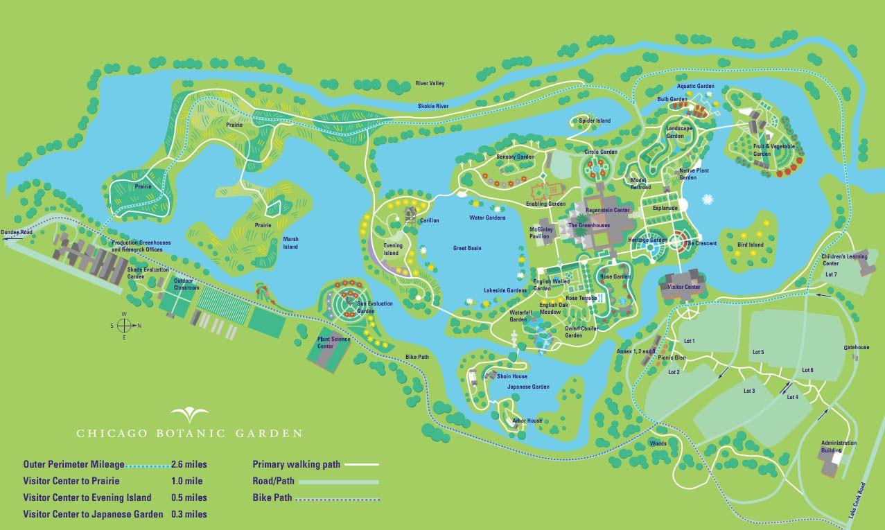Botanical Gardens Chicago Botanic Garden Botanic Garden Map