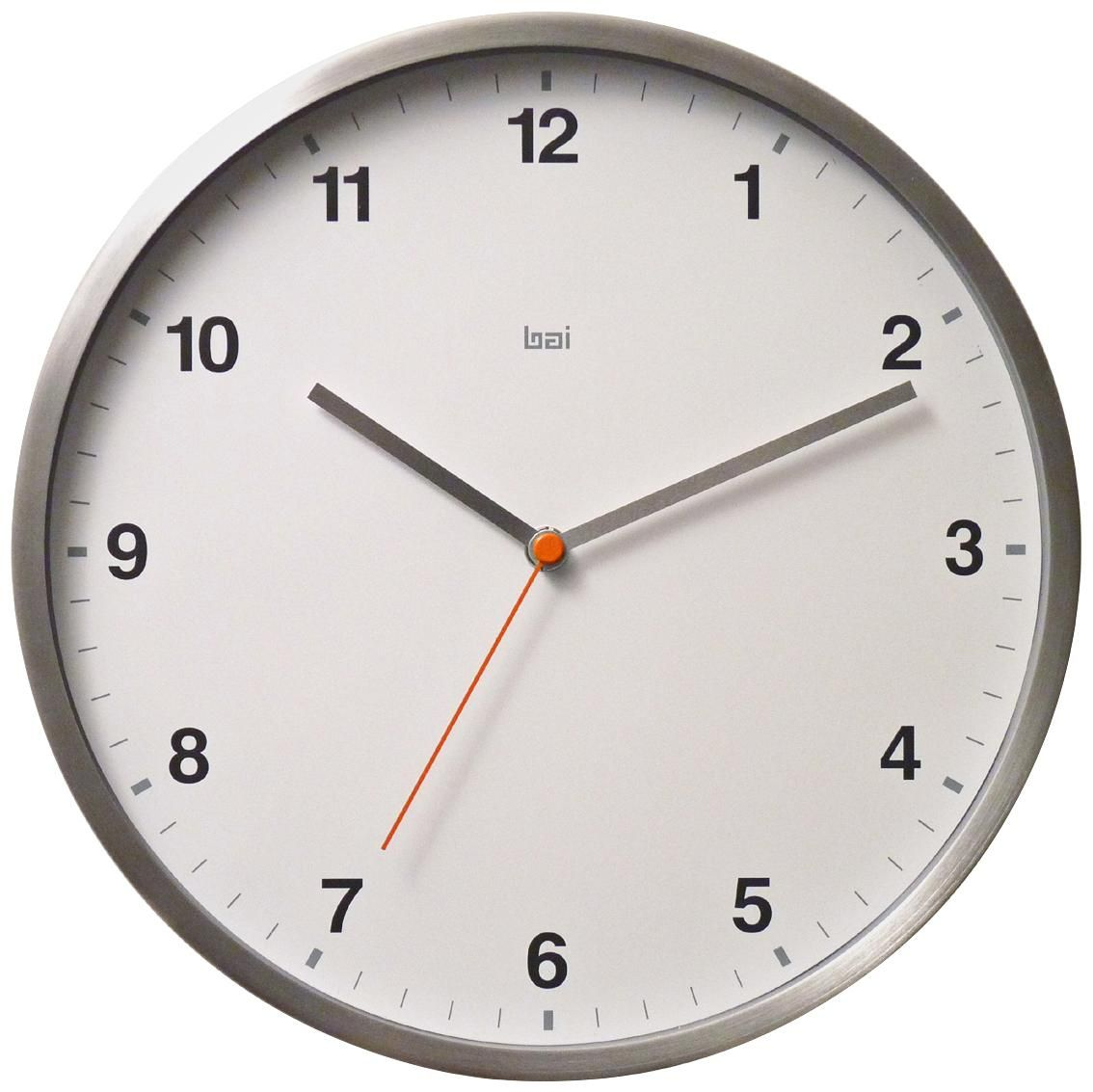 Helio Aluminum White 11 Round Wall Clock 7y778 Lamps Plus Round Wall Clocks Wall Clock Clock