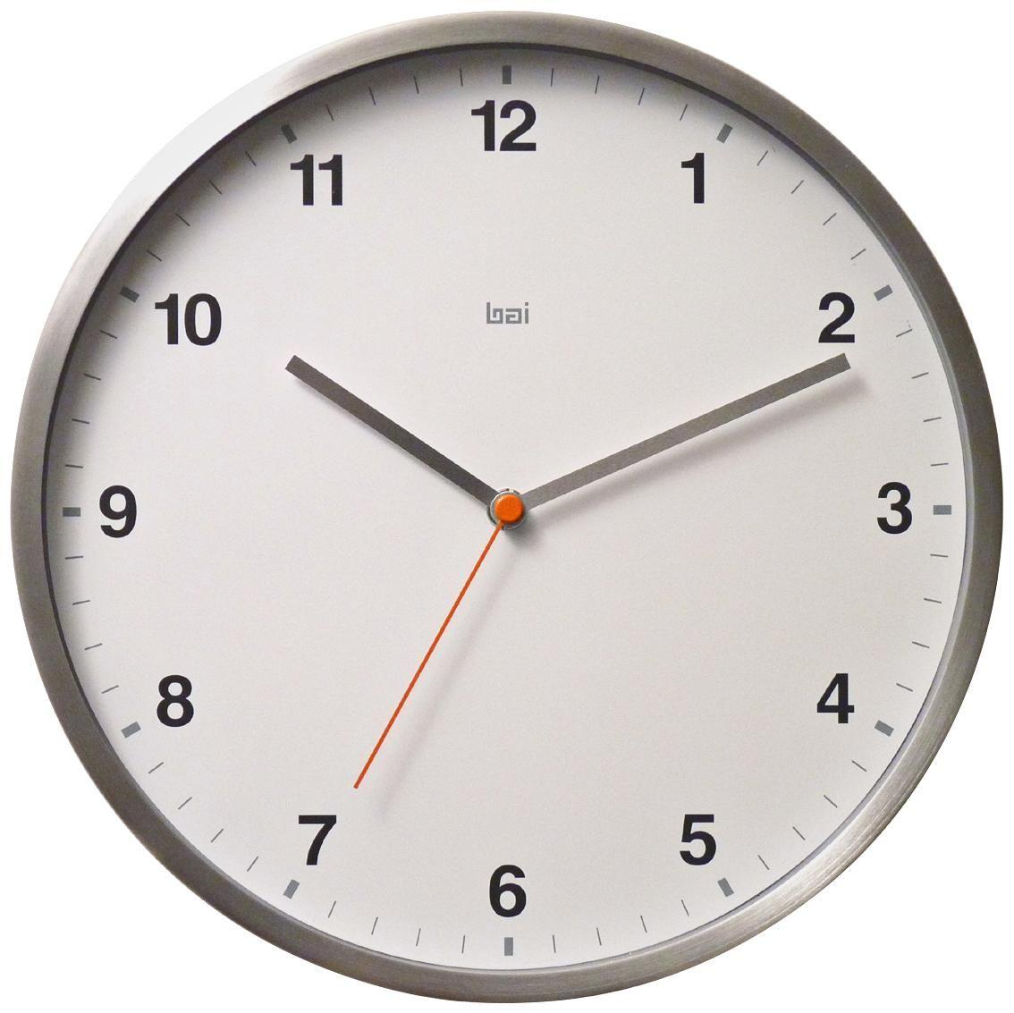 Helio Aluminum White 11 Round Wall Clock 7y778 Lamps Plus Round Wall Clocks Wall Clock Clock