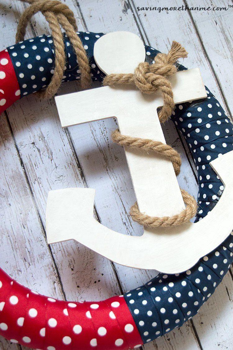 Easy To Make Diy Nautical Wreath Nautical Wreath Crafts