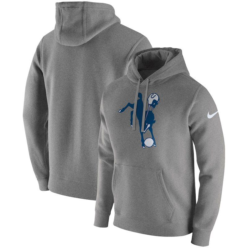8542f91d5743 Indianapolis Colts Nike Fan Gear Club Throwback Pullover Hoodie – Heather  Gray