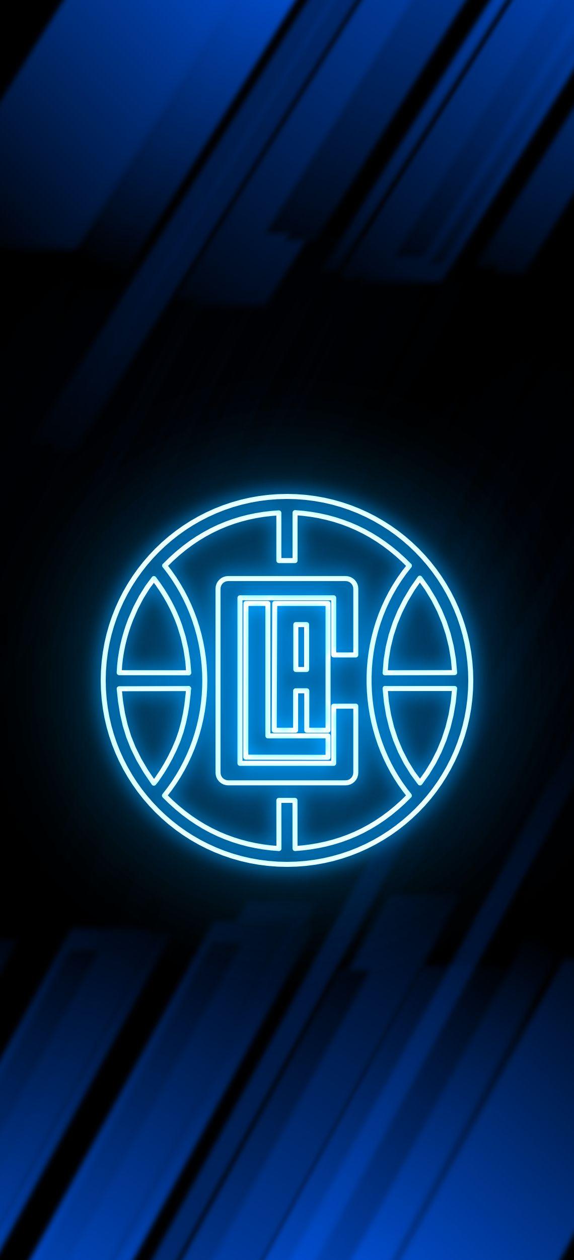 Los Angeles Clippers Neon Wallpaper Los Angeles Clippers Nba Basketball Teams Nba Wallpapers