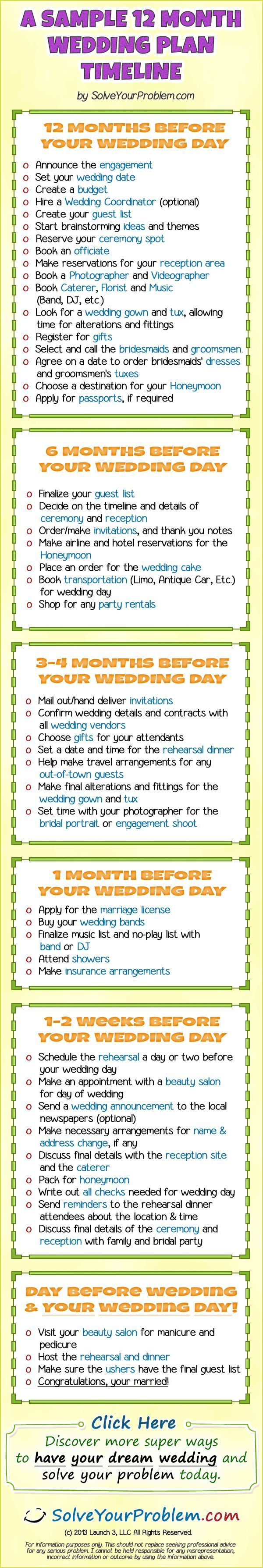 Month Wedding Plan Because I Want A Year Long Engagement