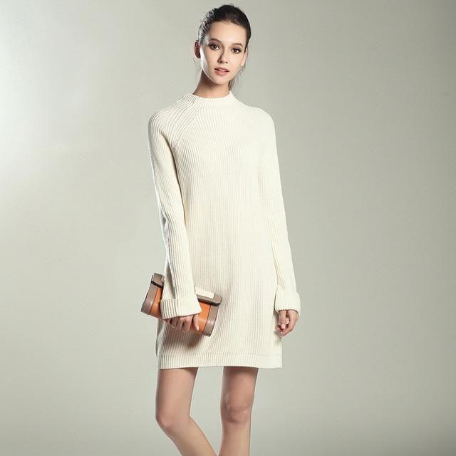 7c9b9c1bdf0 O-neck Pullover Knitted Dress