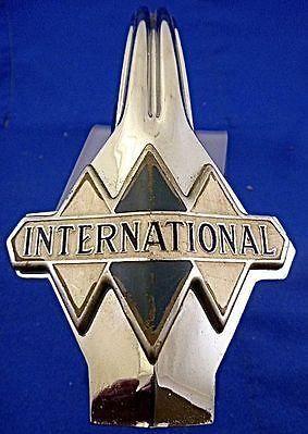 1930s International hood ornament-badge