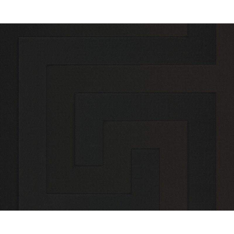 Versace Home Greek Key Black Luxury 70CM Wallpaper by AS