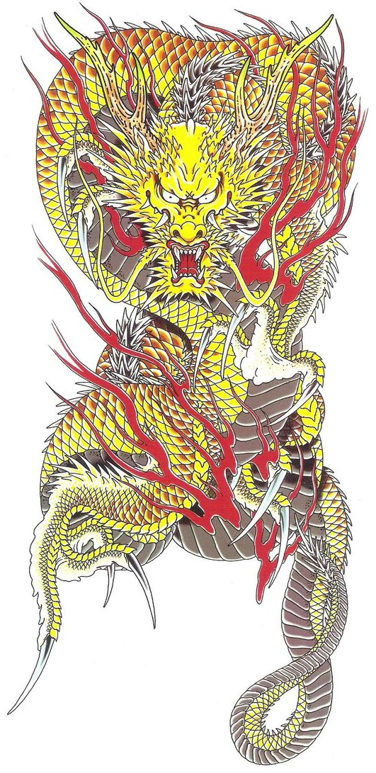 Ryuji Goda's tattoo Japanese dragon tattoos, Yakuza tattoo