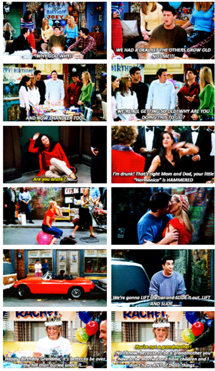 Turning Thirty Friends Quotes Season 7 Episode 14 The One Where They All Turn Thirty Friends Season 7 Friends Central Perk Friends Quotes