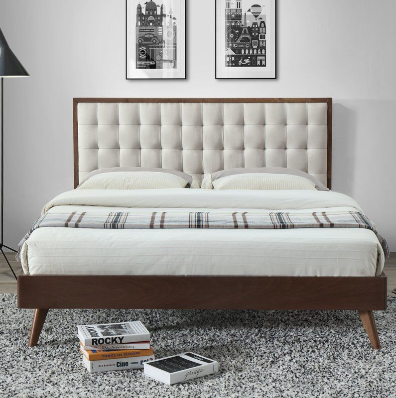 Pin By Applesss On My Saves In 2021 Upholstered Platform Bed Fabric Upholstered Bed Furniture