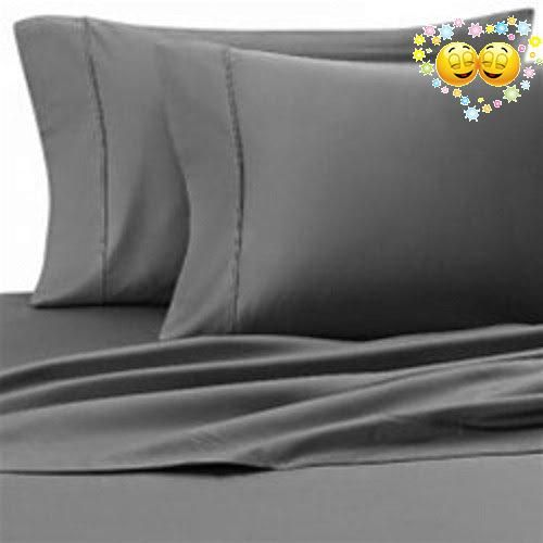 400 Thread Count Super Soft Extra Deep Pocket Sheet Set Twin Long Solid Elephant Gray Fit Up To 19 Inches Limited Period Offer
