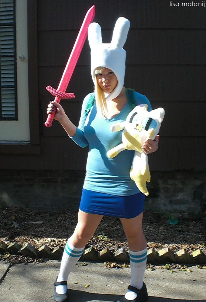 Adventure Time With Fionna Cake Costume Lisa Malanij