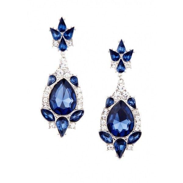 Precious Sapphire Jewel Earrings ($17) ❤ liked on Polyvore ...