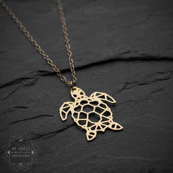 Sea turtle necklace turtle necklace sea necklace origami sea turtle necklace turtle necklace sea necklace origami geometric turtle gold turtle aloadofball Choice Image
