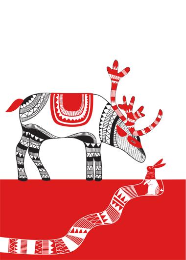 Stag illustration, Kate Mclelland