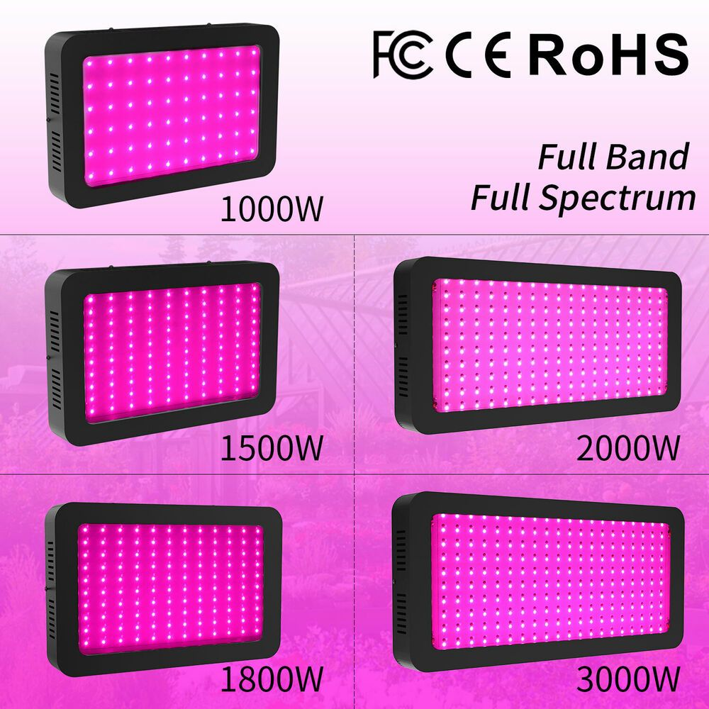 Led Grow Light 3000w 2000w 1800w 1500w 1000w Full Spectrum Full Band Upgraded Ebay In 2020 Led Grow Lights Led Grow Grow Lights