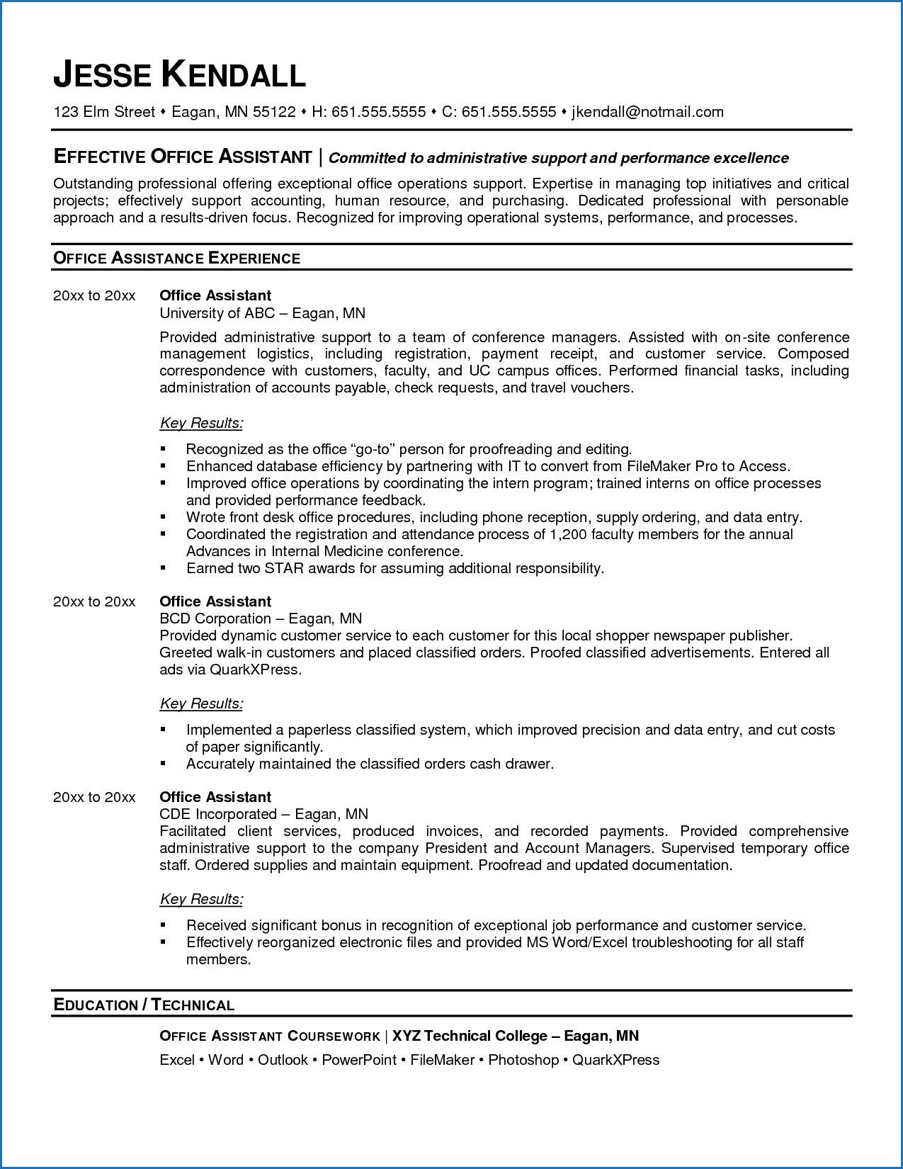 11 sample resume for administrative assistant human