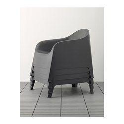 SKARPÖ Lenestol, utendørs, grå - - - IKEA