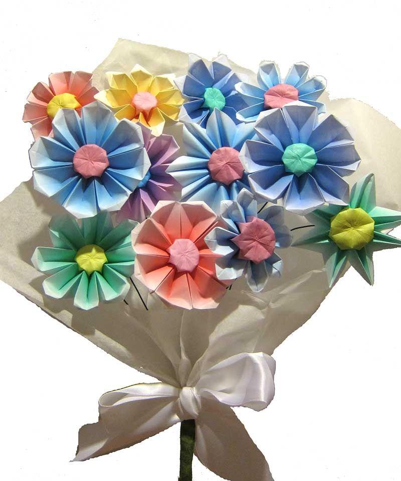 Origami Gerbera Flower Origami Flowers Paper Flower Instructions Paper Flowers