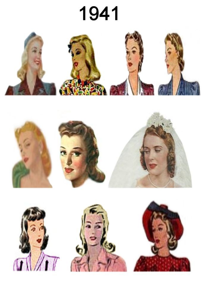 1941 Image Of C20th Fashion History Hair And Hat Styles Fashion Era Com Hat Hairstyles 1940s Hairstyles Pictures Of Hats