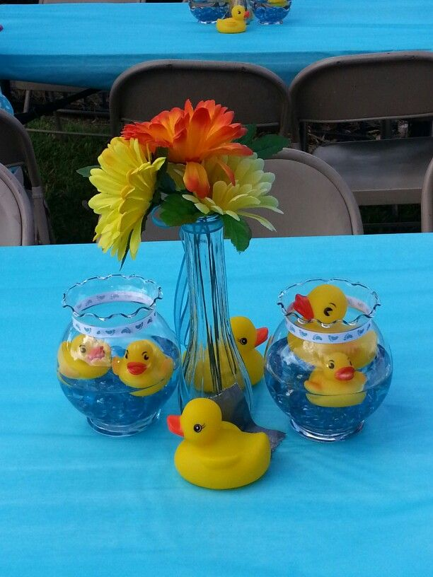 Rubber Ducky Centerpieces