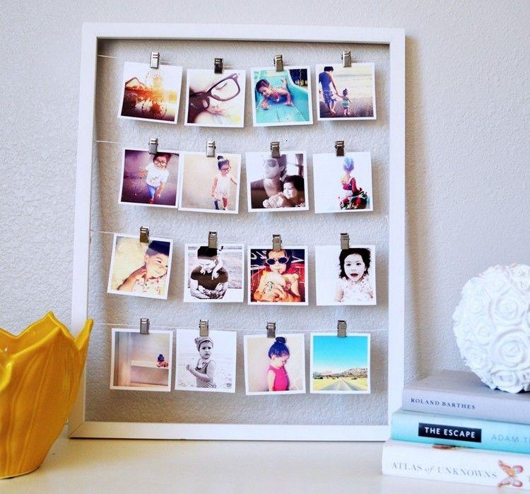 Pele Mele Photos A Faire Soi Meme Un Cadeau Personnalise Diy Photo Display Photo Collage Diy Photo Displays