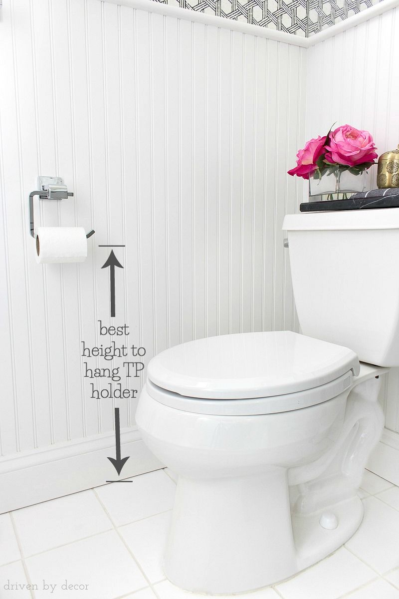 Must Have Measurements For Your Bathroom How High To Hang Your Towel Bar Sconces Toilet Paper Holder More Driven By Decor Bathroom Toilet Paper Holders Bathroom Towel Bar Toilet Paper