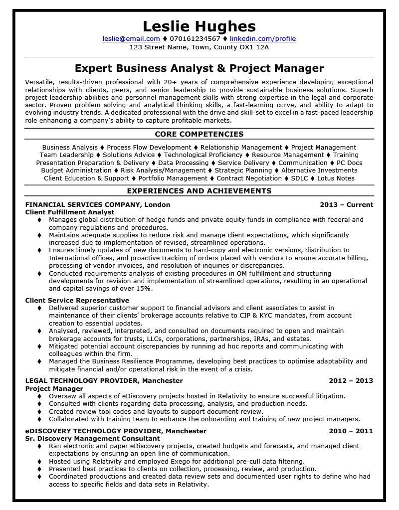Leslie's CV after TopCV Manager resume, Management