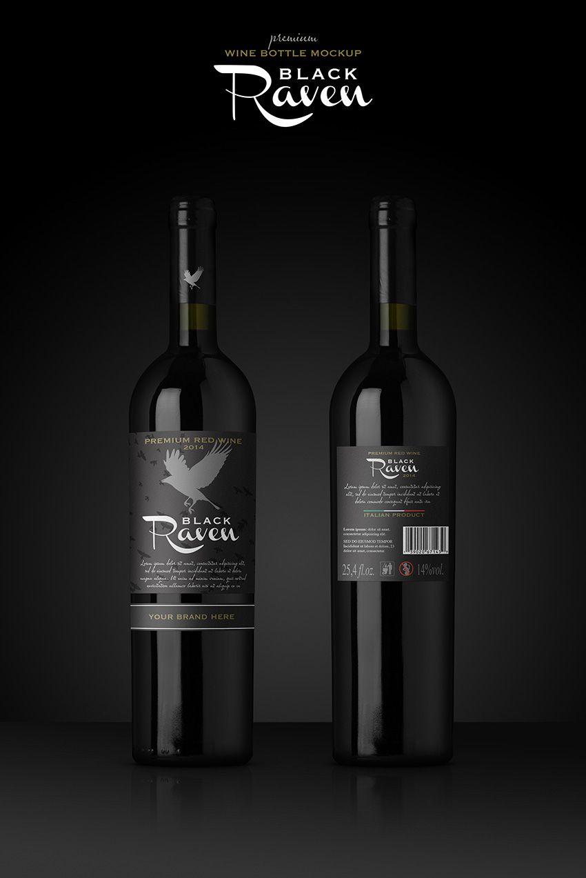 Premium Red Wine Mockup On Graphicriver Wine Label Template Wine Bottle Wine Bottle Label Template