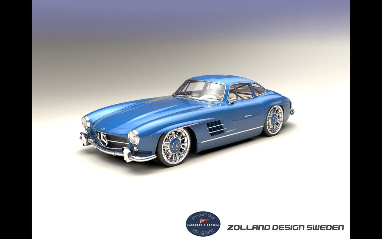 mercedes 300 sl custom retro car and bike design by bo zolland and zolland design pinterest