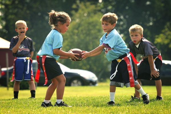 Family Flag Football Flag Football Boys And Girls Club Fun Outdoor Games
