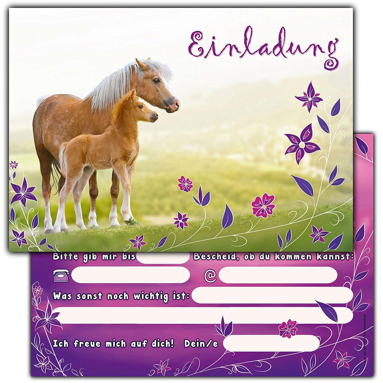 einladungskarten kindergeburtstag ausdrucken pferde unique
