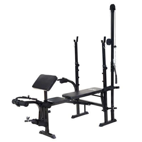 Terrific Details About Adjustable Weight Lifting Flat Bench Rack Set Inzonedesignstudio Interior Chair Design Inzonedesignstudiocom
