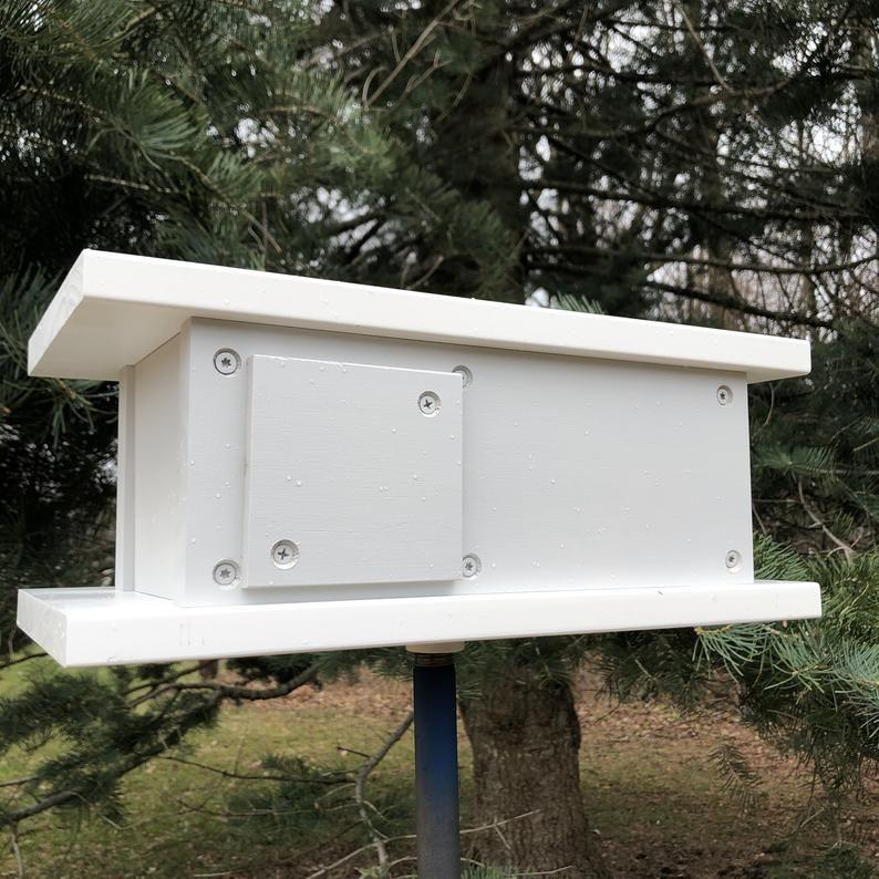 Palm Canyon Birdhouse Stormflash Gray Midcentury Modern Design Architecture Bird House Made i