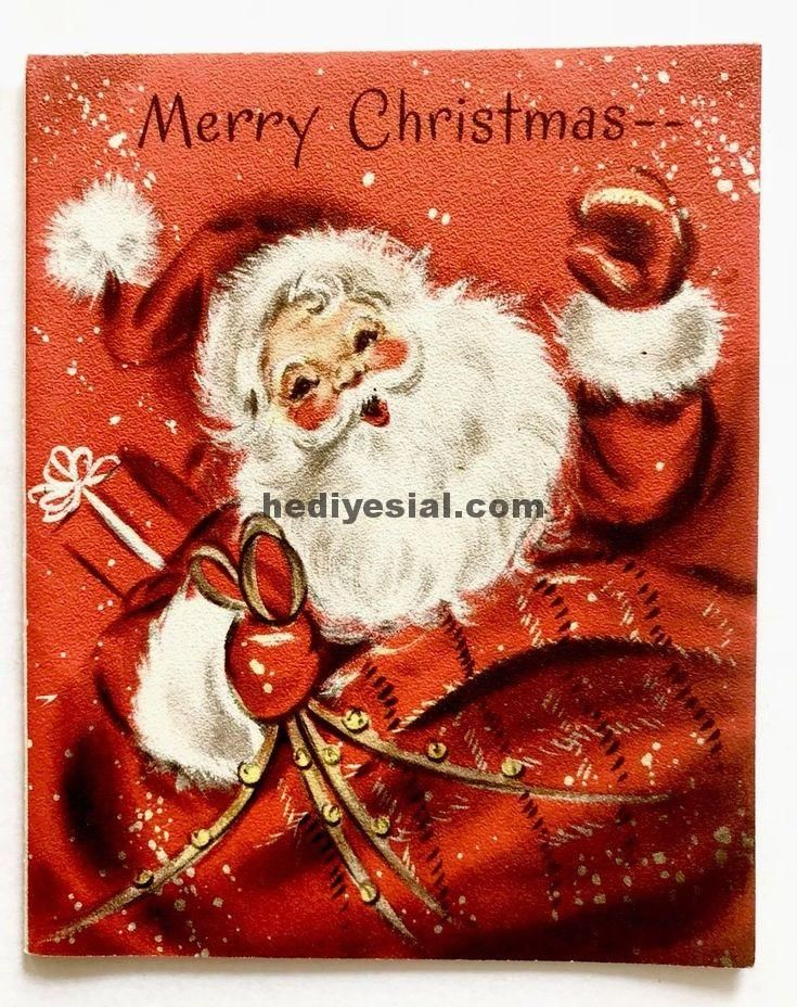 vintage hallmark weihnachten karte santa snow sleigh. Black Bedroom Furniture Sets. Home Design Ideas