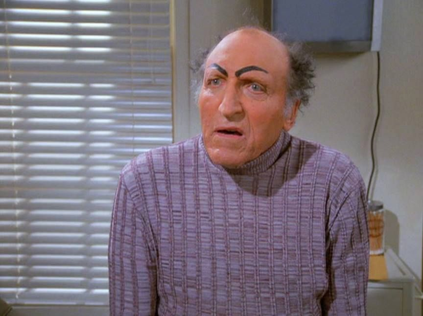 uncle leo Seinfeld characters, Uncle leo eyebrows, Seinfeld
