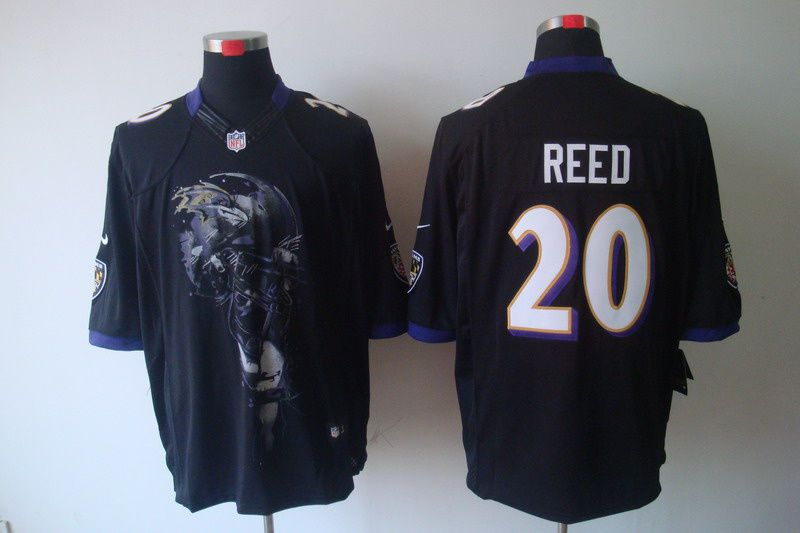 648bce76 Nike Baltimore Ravens #20 Ed Reed Black Mens Helmet Tri-Blend ...