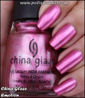 China Glaze Emotion Is Like Metallic Pink Bubble Gum