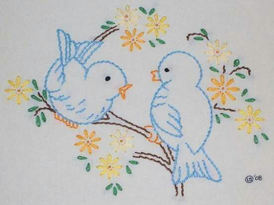 Flower Hand Embroidery Designs Free Download: Embroidery, Bird Embroidery