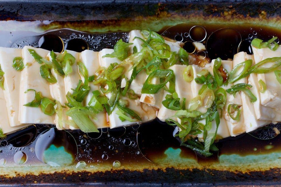 Silken Tofu With Soy Sauce (Xiao Cong Ban Dou Fu) Recipe