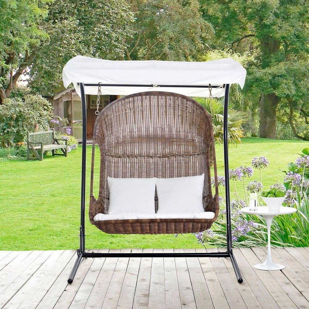 seater patio swing chair wood lounger air porch hammock outdoor