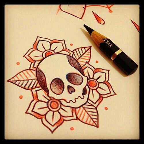I want something like this but the skull a little ...