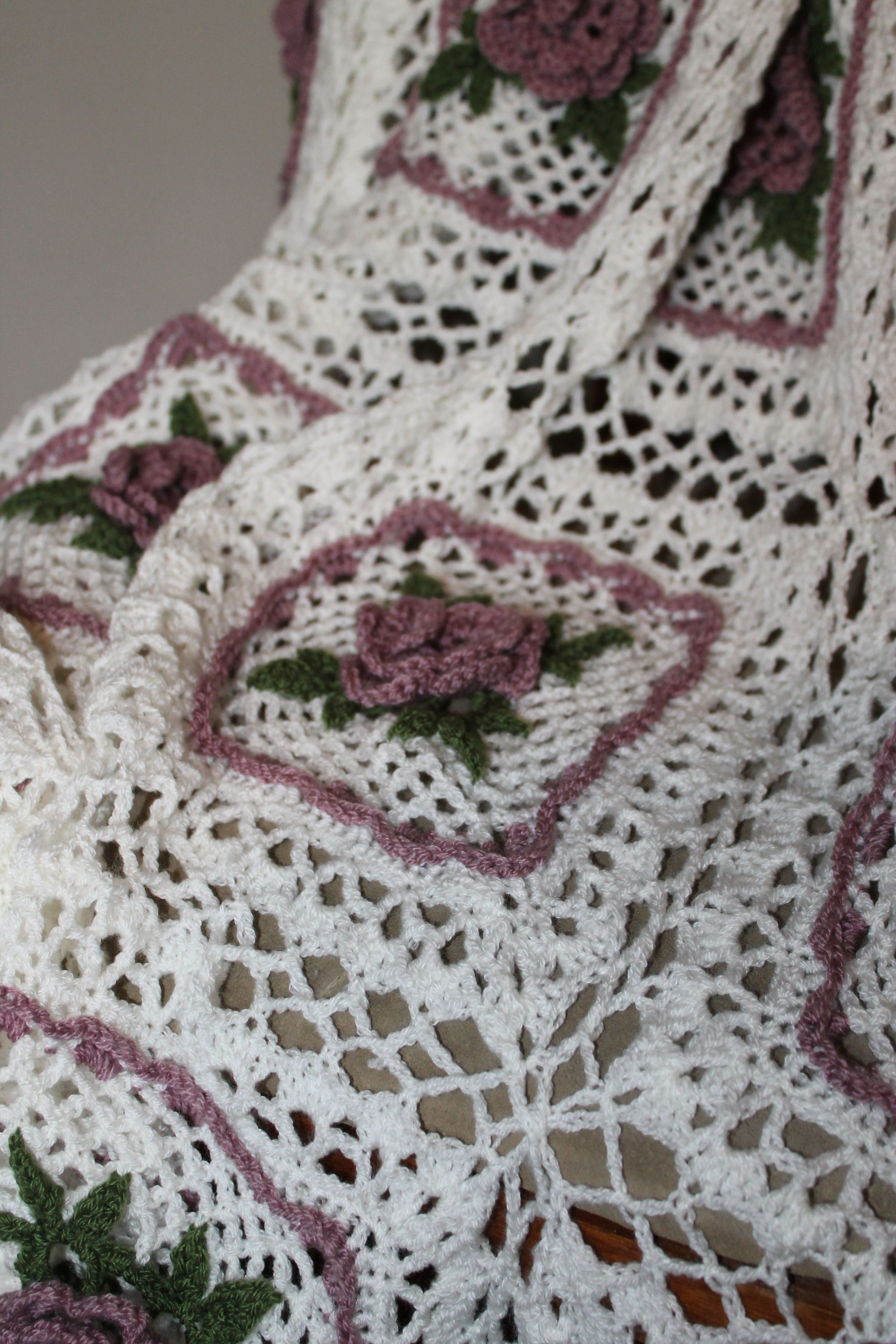 Irish Roses & Celtic Lace crochet afghan | My Works, Afghans ...