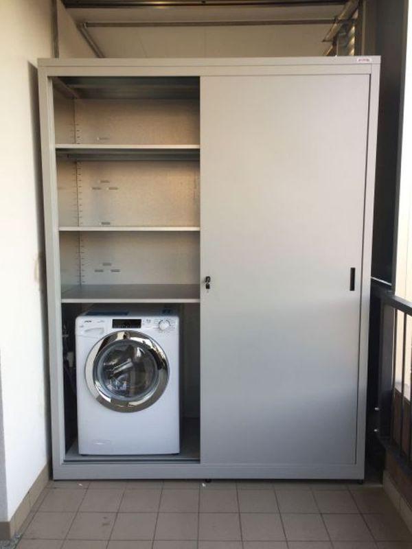 Scorrevoli-con-lavatrice | Armadio esterno, Armadi ...