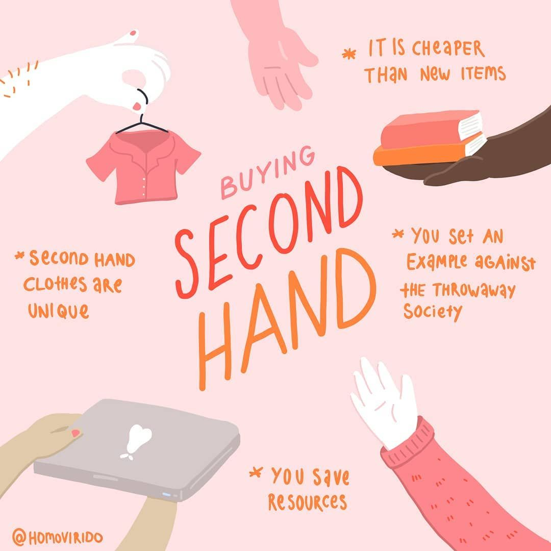 Buying Second Hand Is Awesome 90 Of The Clothes I Bought In The Last Year Are Second Hand And I A Second Hand Clothes Zero Waste Lifestyle Sustainable Living